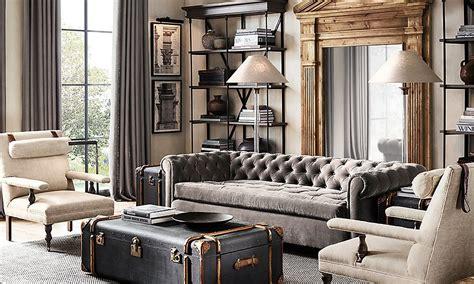 amazing living rooms inspired  restoration hardware