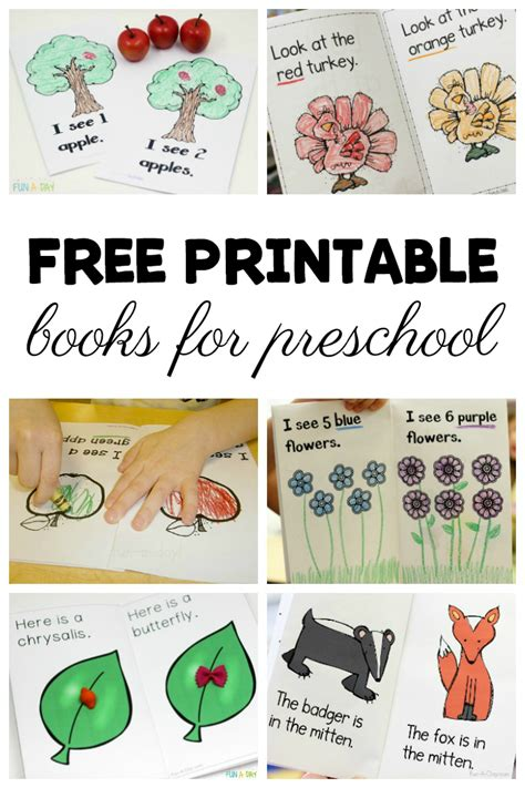 grab these free printable books for preschool and kindergarten