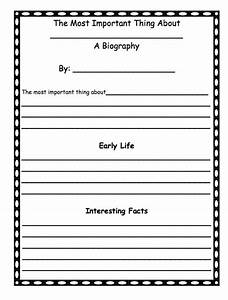 a first grade biography template after reading the With template for writing a biography
