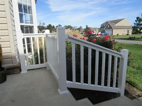 white vinyl railing railings forrest fencing 1067