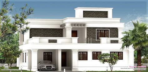 Flat Roof Homes Designs  Flat Roof Villa Exterior In 2400