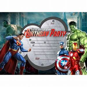 Avengers Invitation Design Party Invitations Avengers Super Hero Marvel Hero