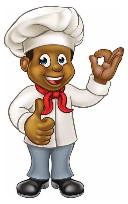 Chef Cartoon Cook African American Vector Illustrations