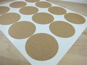 round brown kraft labels 25 inch circles by snugglymonkey With kraft circle labels
