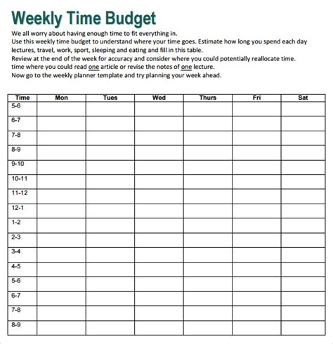 weekly budget samples examples templates sample