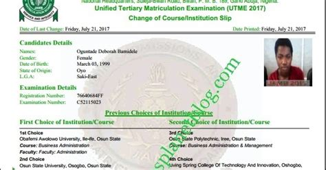 jamb correction data guidelines utme de students