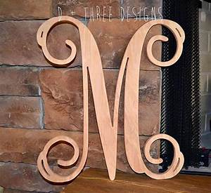 22 inch single monogram wooden letter for 3 inch wooden letters