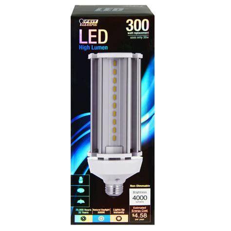 feit 38 watt led non dimmable light bulb for outdoor yard