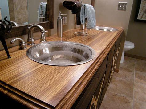 bathroom countertop material options hgtv
