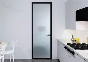 porte galandage en verre porte coulissante galandage en With porte de garage et porte intérieure en verre