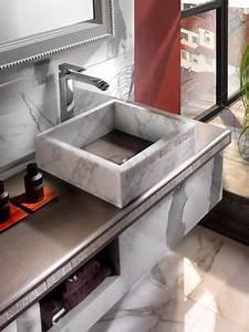 Marbre Salle De Bain : les salles de bains en marbre de margraf inspiration bain ~ Dailycaller-alerts.com Idées de Décoration