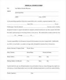 Medical Consent Form Sample
