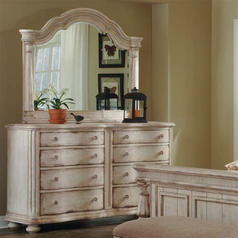 Belmar II Wood Eight Drawer Dresser in White  Humble Abode