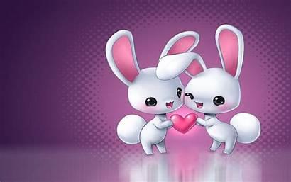 Rabbit Animated Animal Phone Animals Heart Dog