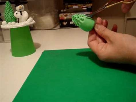 easy classy christmas tree from fondant how to make a tree