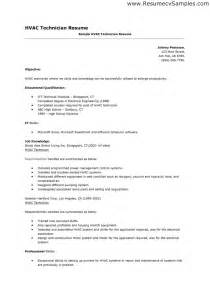 Hvac Resume Template by Doc 618800 Hvac Resume Sle Bizdoska