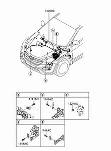 2015 Hyundai Santa Fe Engine Diagram : 91210 b8490 genuine hyundai wiring assembly front ~ A.2002-acura-tl-radio.info Haus und Dekorationen