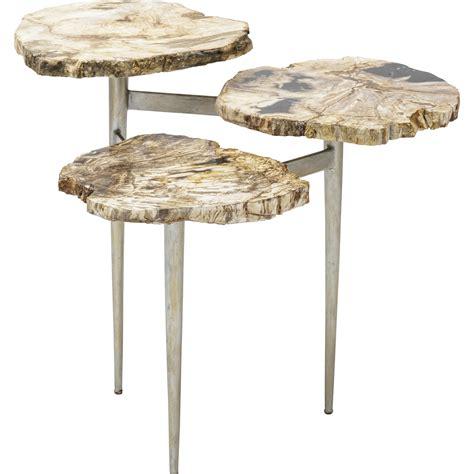palecek petrified wood side table petrified wood tier table palecek