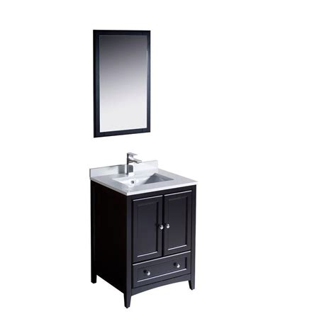 home depot bathroom vanities 24 inch fresca oxford 24 inch w vanity in espresso finish with