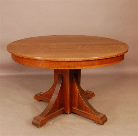 arts and crafts dining table 102 arts crafts style round oak dining table 48 quot t