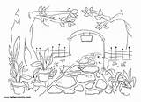 Garden Coloring Pages Printable Adults sketch template