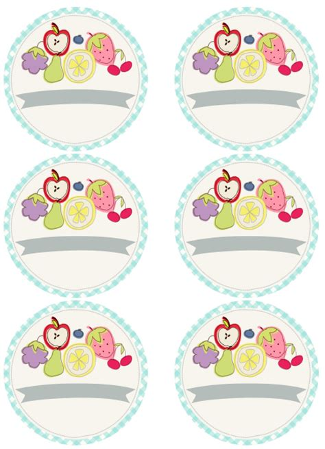 cute fruity fun  canning label printables