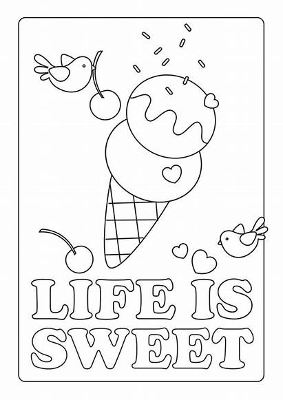 Coloring Pages Summer Sweet Printable
