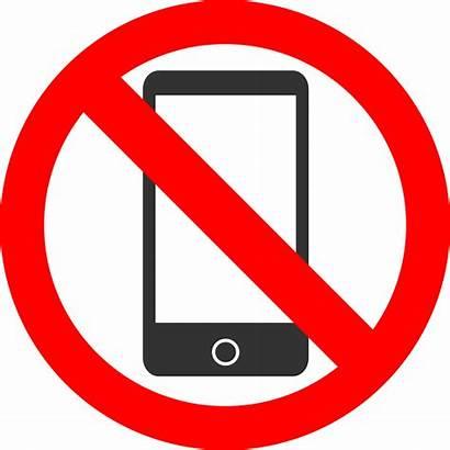 Clipart Phones Allowed Mobile Kein Smartphones Svg
