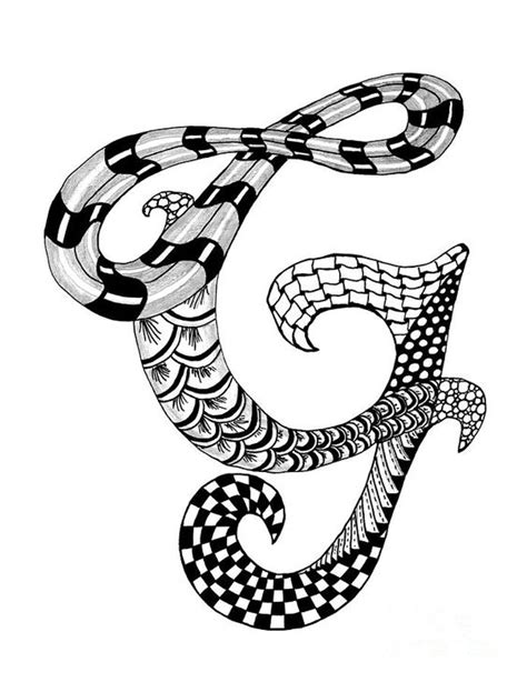 zentangle letter y monogram drawing zentangle alpha zentangle letter g monogram in black and white drawing 87671
