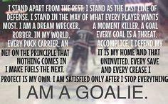 Hockey Goalie Motivational Quotes