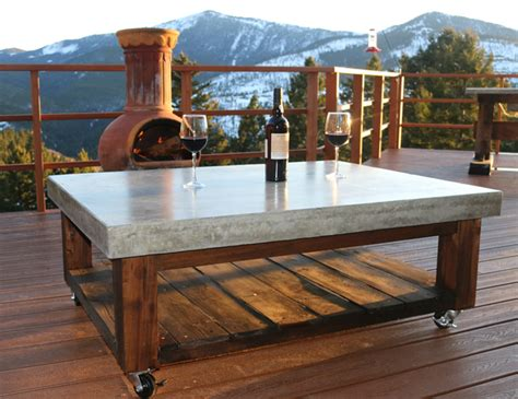 how to make a concrete table how to make a concrete coffee table diy projects with pete
