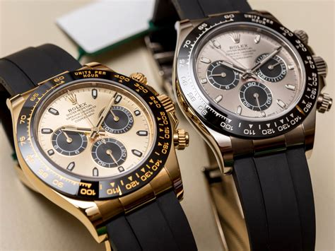 Rolex Cosmograph Daytona Watches In Gold With Oysterflex
