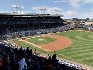 Iowa Cubs Seating Chart Wrigley Field Section 329 Chicago Cubs Rateyourseats Com