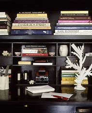 Black Bookshelves with Office