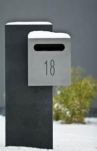 Boite Aux Lettres Moderne : boite aux lettres en pierre bleue belge pierre naturelle ~ Teatrodelosmanantiales.com Idées de Décoration