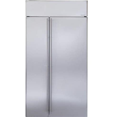 ge monogram  stainless steel built  side  side refrigerator zissnrss ebay