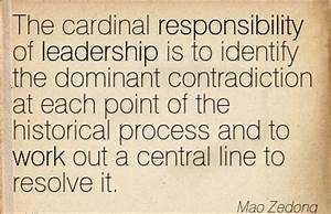 The cardinal responsibility of leadershi by Mao Zedong ...