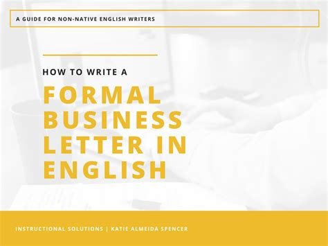 write  formal business letter  english