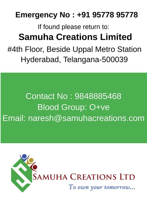 visiting card id card designing services  hyderabad