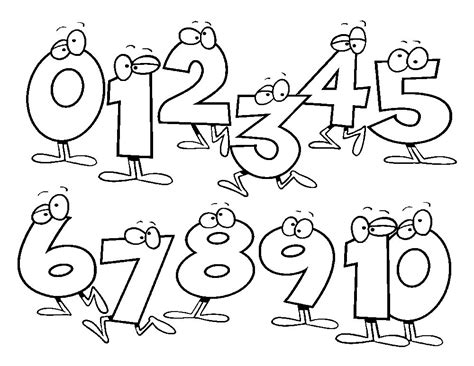 numbers coloring pages getcoloringpagescom