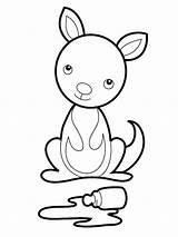 Coloring Kangaroo Printable Craft Kangaroos Sheets Animal Koalas Animals Gaddynippercrayons Disney Pouch sketch template