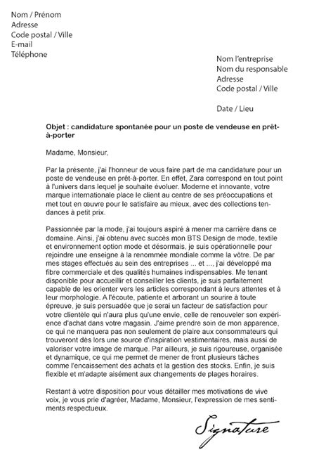 siege zara recrutement lettre de motivation stage zara document