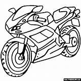 Coloring Ducati Sportbike Motorcycles Pages Bike Dirt Motocross Motorcycle sketch template