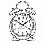 Alarm Clock Coloring Cartoonized Printable Ingrahamrobotics Ov Covent Garden sketch template