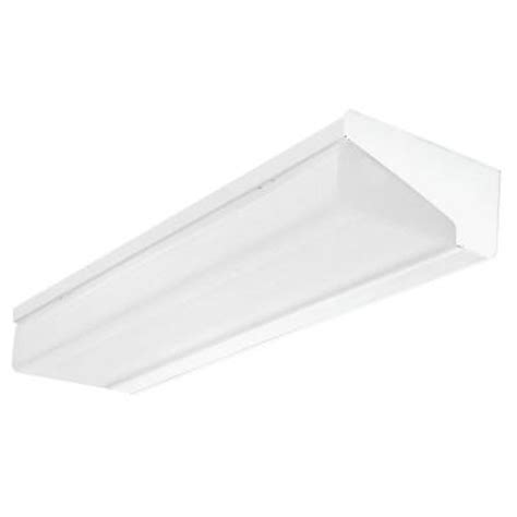 lithonia lighting 4 ft 2 light wall mount fluorescent