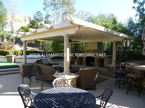 alumawood patio cover freestanding newport flat pan in