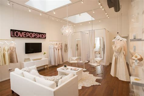 peek   luxe feminine bridal salon designed
