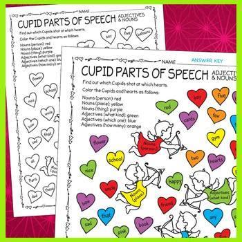 valentines day parts  speech review  prime  pi tpt