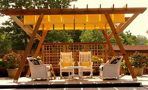 Exteriors A Backyard Deck With Pergola Ideas Outside Shade