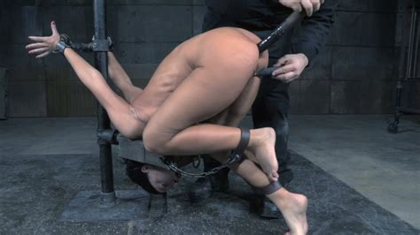 Restrained Brunette Sweetie Had Hard Bdsm Anal With Her Buddy